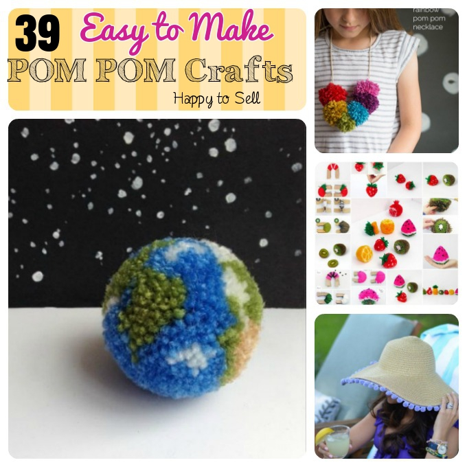 39 diy pom pom crafts which easy to make and ready to sell for Great crafts to make and sell