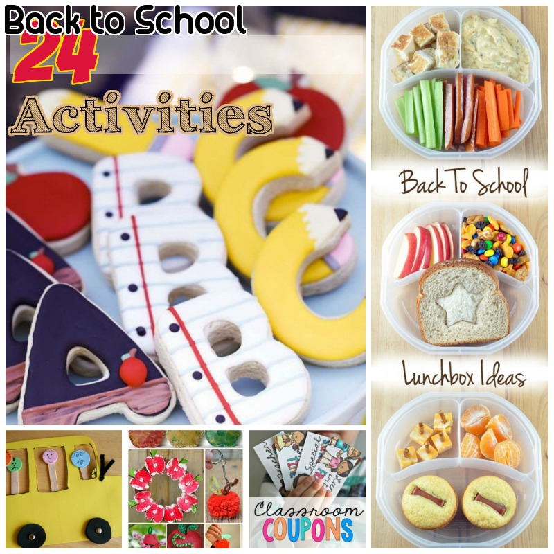 24 Back to School Crafts & Activities for Kids