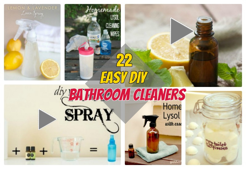 22 Functional DIY Homemade Bathroom Cleaners for Sticky Toilet