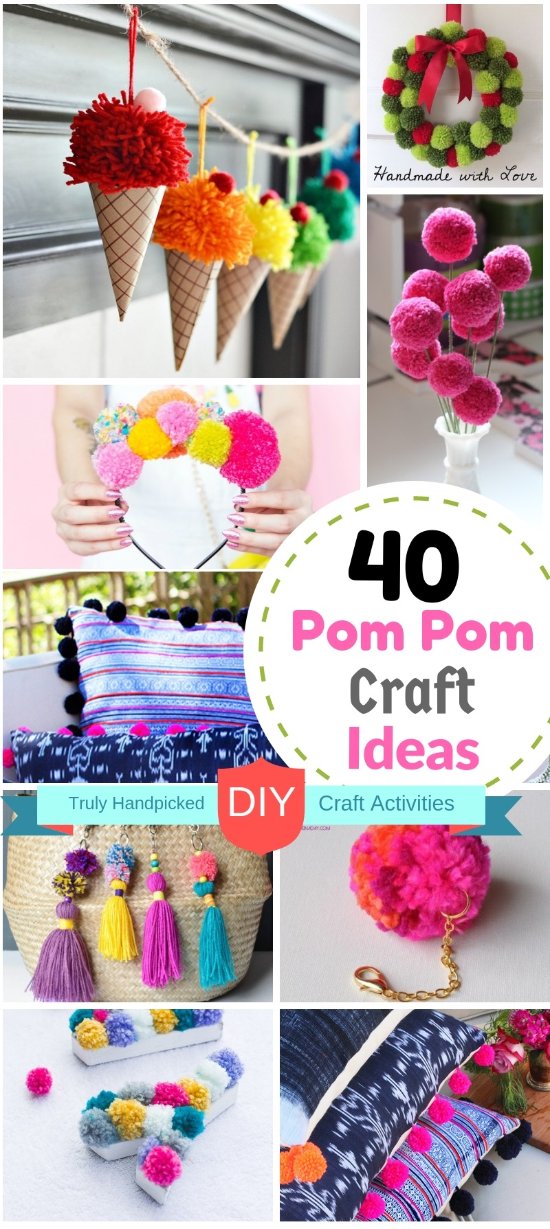 40 Diy Pom Pom Crafts Ideas For Home Decor Make And Sell Ideas