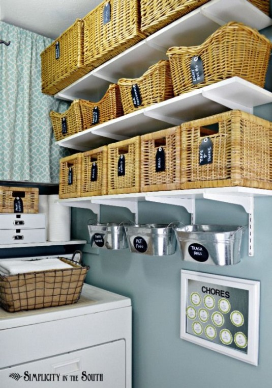 useful laundry room storage and decor ideas diy craft