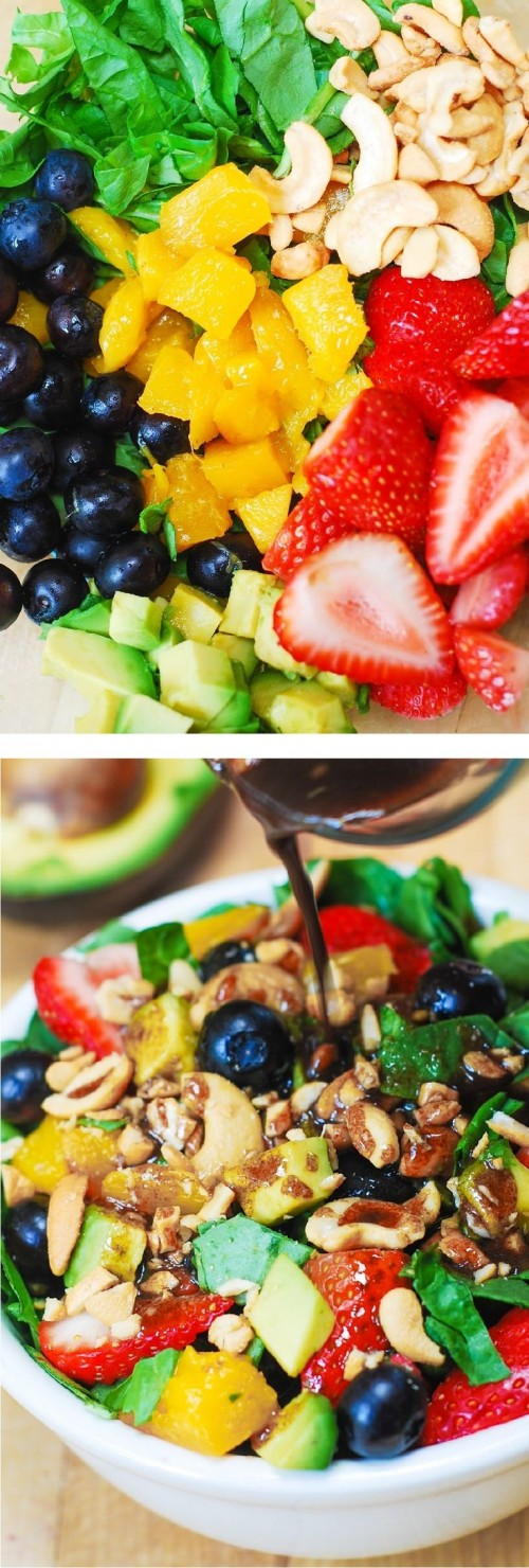 Summertime Tropical Fruit Salad Recipe — Dishmaps