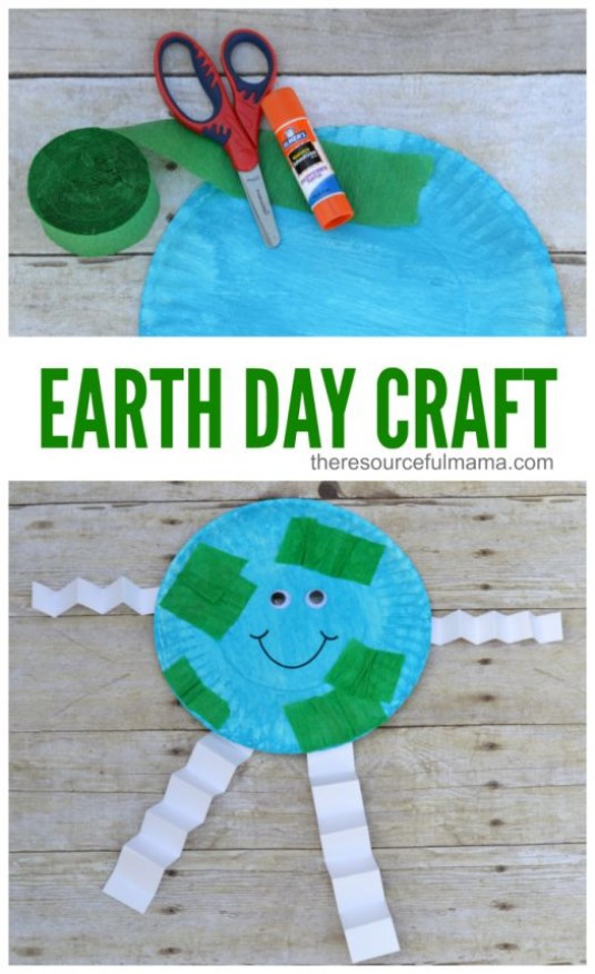 Earth Day Craft Ideas For Kids Part - 44: Earth Day Paper Craft For Kids