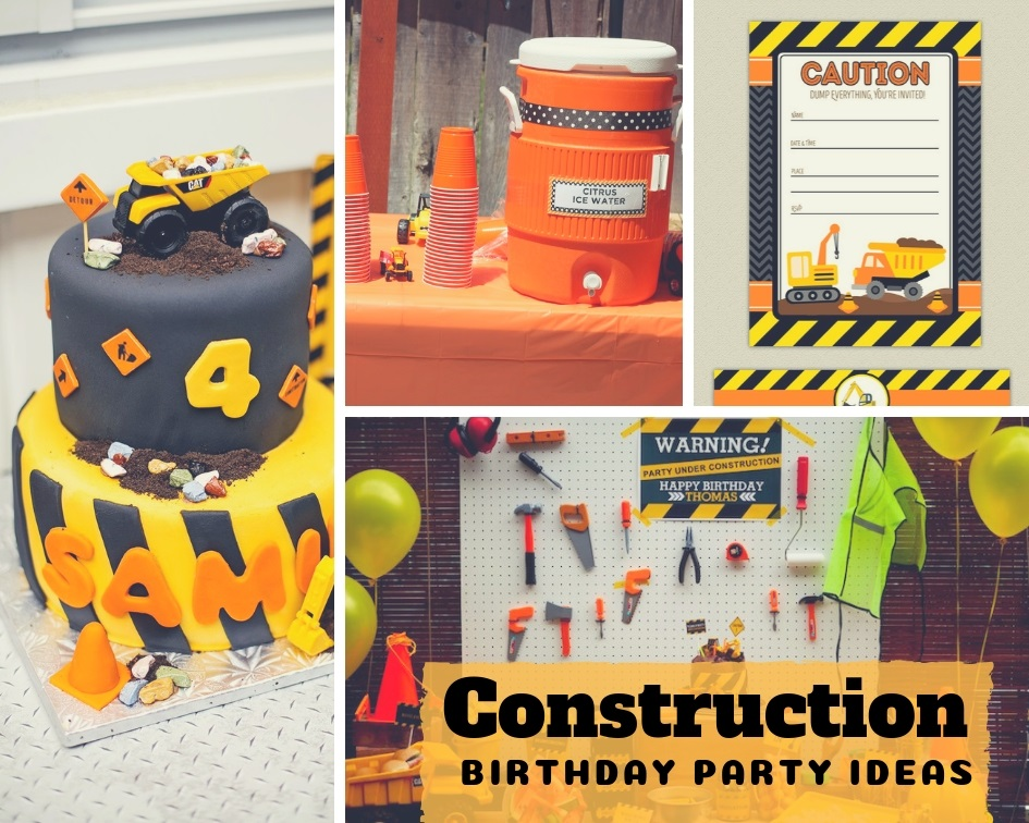 48 Construction Theme Birthday Party Decor And Food Ideas