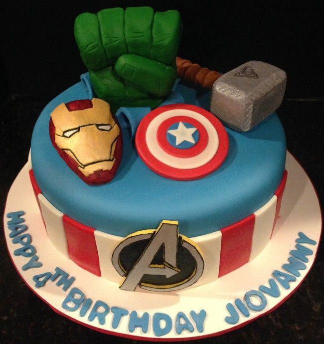 Avengers cake all