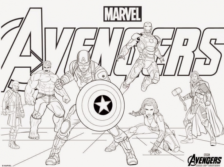Superhero Coloring Pages Avengers : Avengers birthday party ideas for superhero lovers