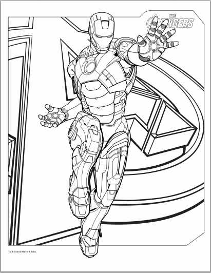 Avengers coloring pages p