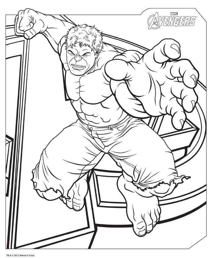 Avengers coloring pages u2
