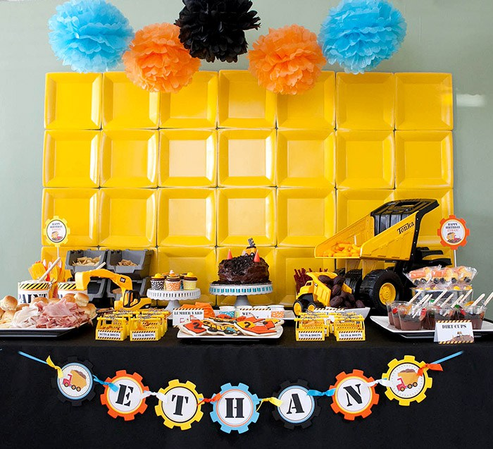Construction Birthday Party Food Ideas: 48 Construction Theme Birthday Party Decor And Food Ideas