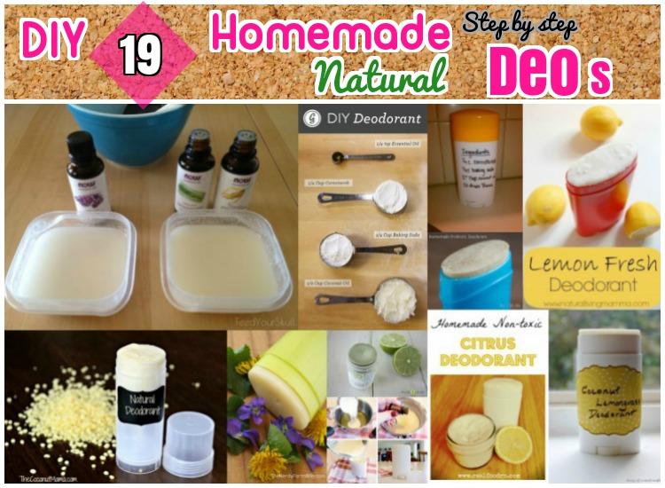 DIY Homemade Natural Deodarants step by step turotial