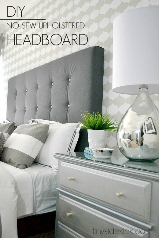 16 diy headboard ideas for a classy bedroom on budget for Cheap easy to make headboards
