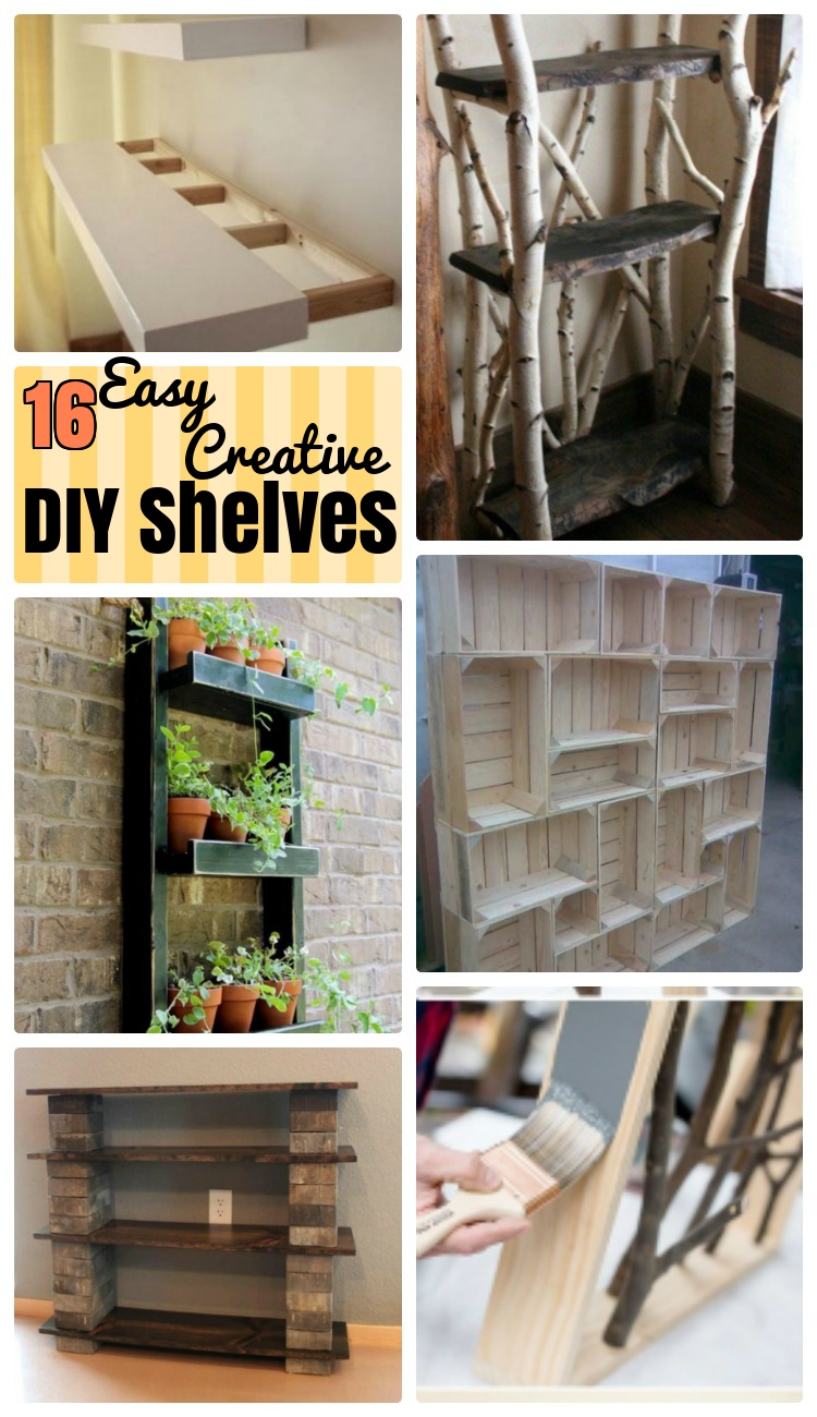 3 Easy Diy Storage Ideas For Small Kitchen: 16 Attractive DIY Shelves For Your Homely Stuff
