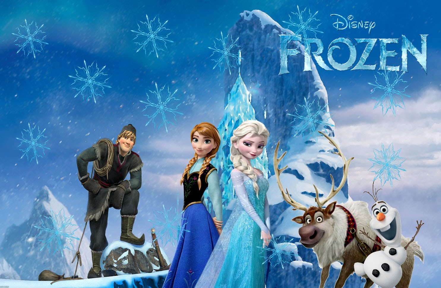 Frozen Wallpaper with main Characters