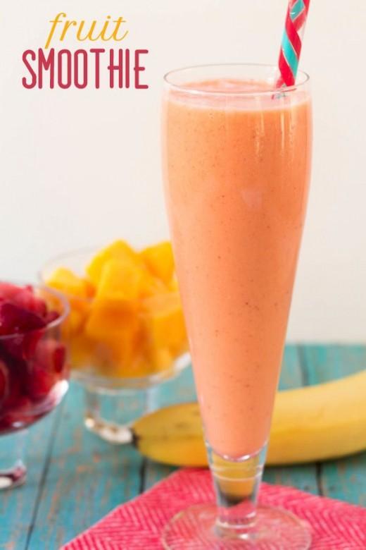 healthy frozen fruit smoothies orange fruits
