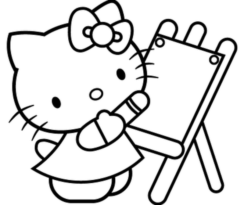 hello kitty coloring pages 2 - Coloring Activities 2