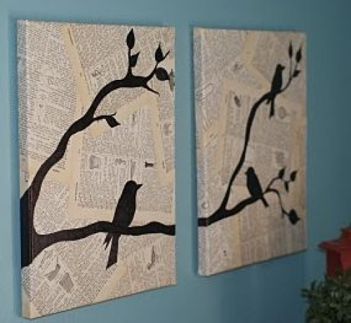Wall Decor Ideas Using Paper : Some easy and nice diy newspaper wall hangings d?cor