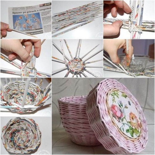 Some Easy And Nice Diy Newspaper Wall Hangings And Decor Craft Ideas