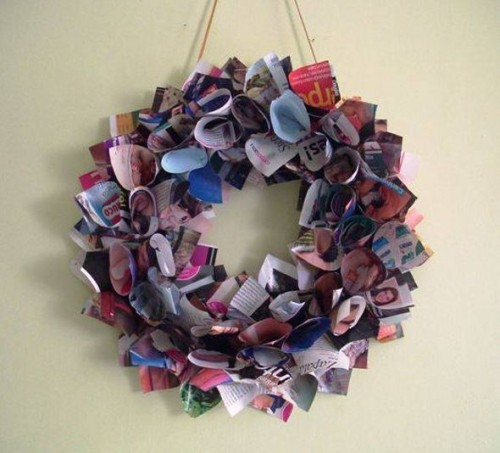 Some Easy And Nice DIY Newspaper Wall Hangings Decor Craft Ideas