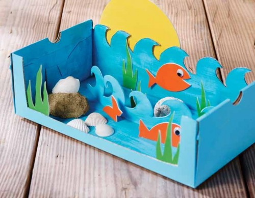 28 Ocean Themed DIY Animal Craft Ideas For Kids Diy Craft Ideas Garde