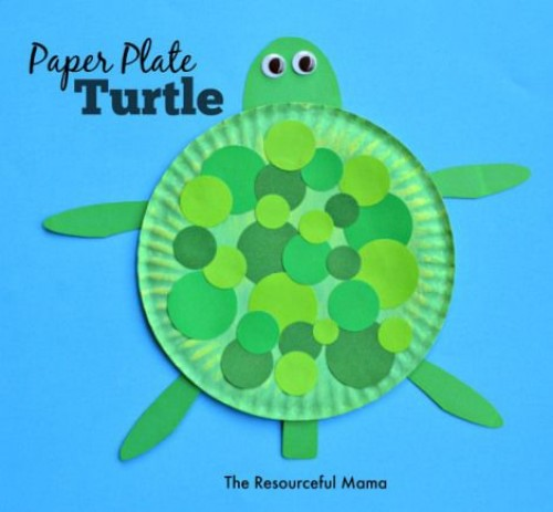 Paper Plate Turtle Craft. Ocean-crafts  sc 1 st  Diy Craft Ideas u0026 Gardening & 28 Ocean Themed DIY Animal Craft Ideas for Kids - Diy Craft Ideas ...