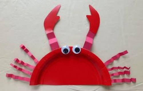 Ocean Crafts Crabs with Paper plates & 28 Ocean Themed DIY Animal Craft Ideas for Kids - Diy Craft Ideas ...