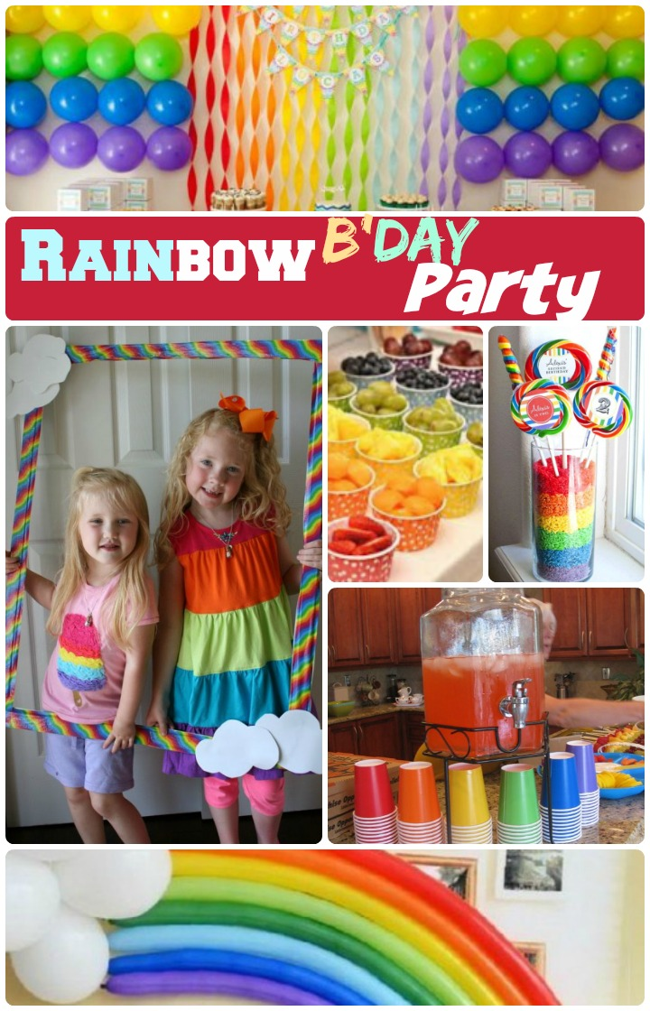 DIY Rainbow Birthday party ideas for kids