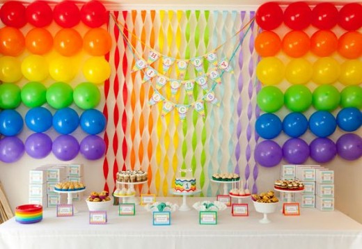 DIY Rainbow Birthday party ideas
