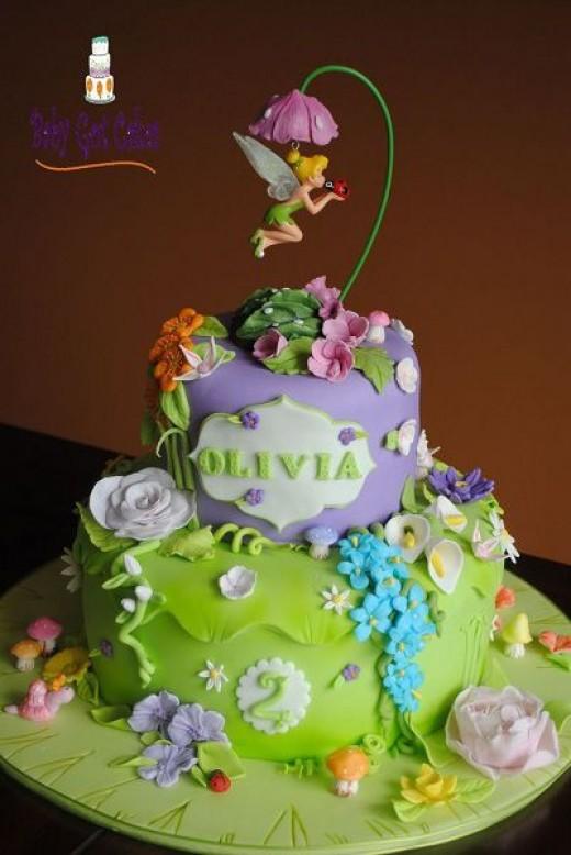 Tinkerbell Fairy Birthday Party Theme Ideas Cakes