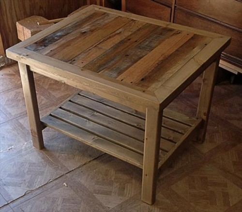 Some useful ideas on making reclaimed diy pallet end for Diy coffee and end tables