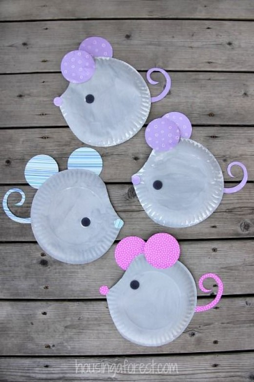 Paper Plate mouse mice Craft & Some Easy and Funky DIY Paper Plate Crafts for Kids - Diy Craft ...