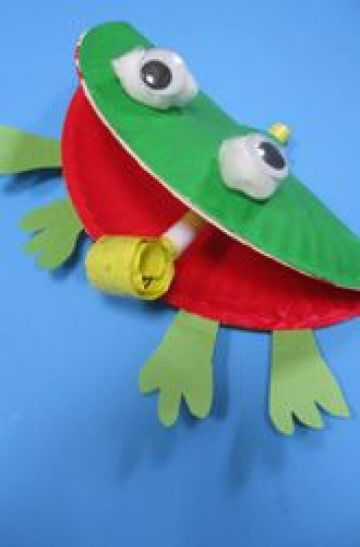 F is for Frog Craft Activity. paper-plate-crafts & Some Easy and Funky DIY Paper Plate Crafts for Kids - Diy Craft ...