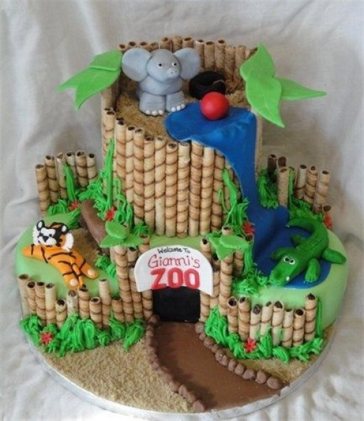 Cake Decoration Zoo : Some Astonishing DIY Birthday Party Ideas for Zoo & Jungle ...