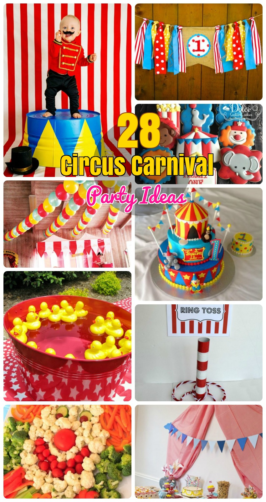Circus Carnival Birthday Party Ideas