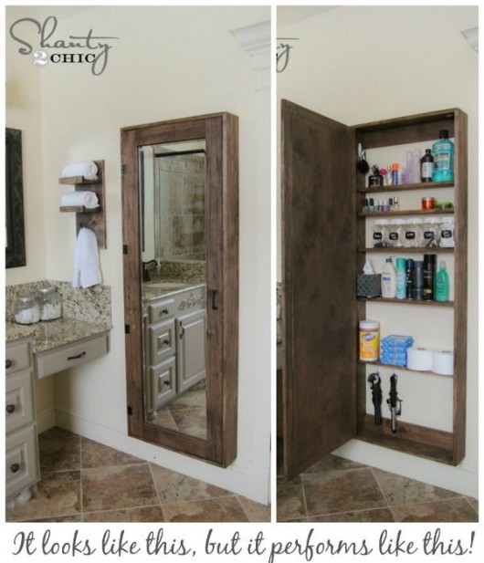 Diy clever storage ideas 15 bathroom organization and for Bathroom cabinets small spaces