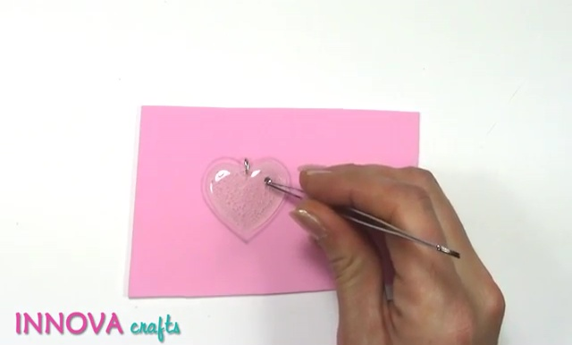 DIY Craft Gift Ideas: How to make Heart Pendant with Glue ...