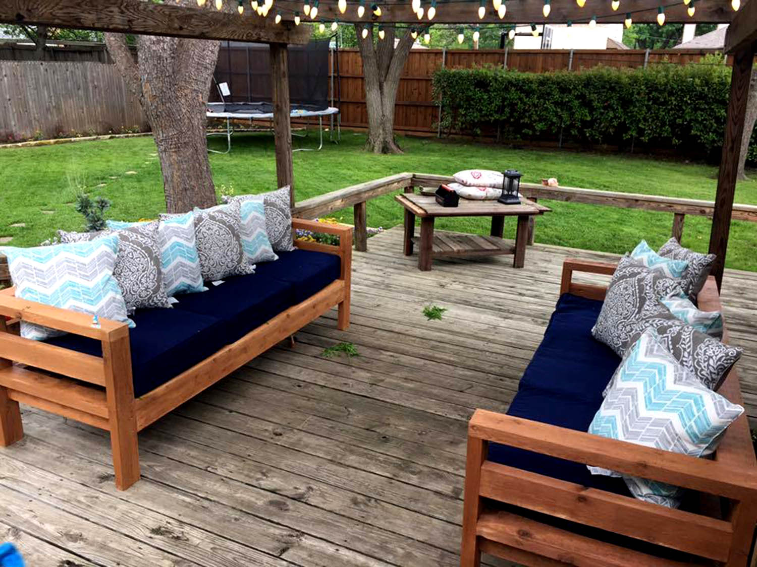 DIY Outdoor Furniture Ideas From Annawhite Plans outdoor-2x4-sofas
