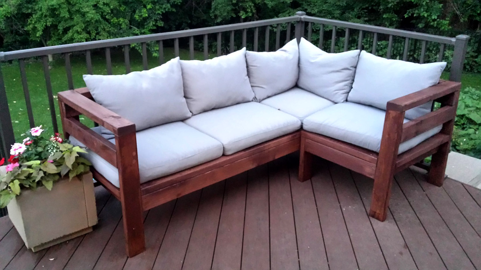DIY Outdoor Sectional Sofa Plans Ana White