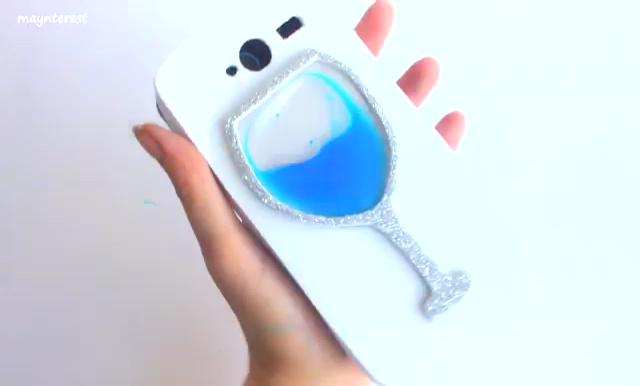 DIY Phone case with Wine glass water (2)