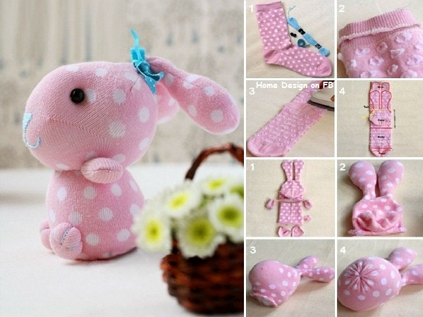 DIY Craft Ideas: #12 Socks Made Animal Soft Toys for Kids