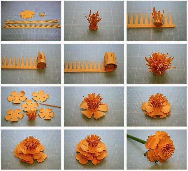 DIY how to make paper flower craft step by step