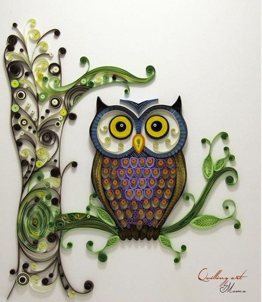 Amazing Animal Paper Quilling Owl Wall Decor Craft