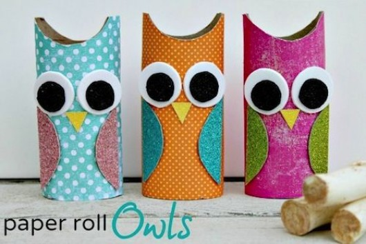 Diy birds craft 24 easy paper owl craft ideas for kids for Paper roll projects