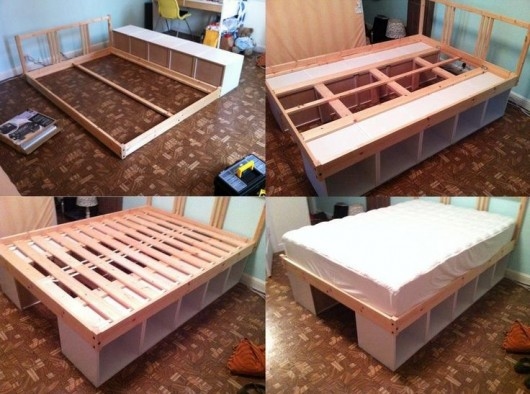 diy storage bed ideas for small places diy craft ideas