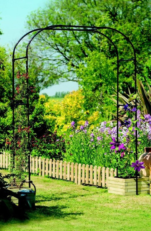 DIY Garden Ideas Arch And Bench Ideas For An