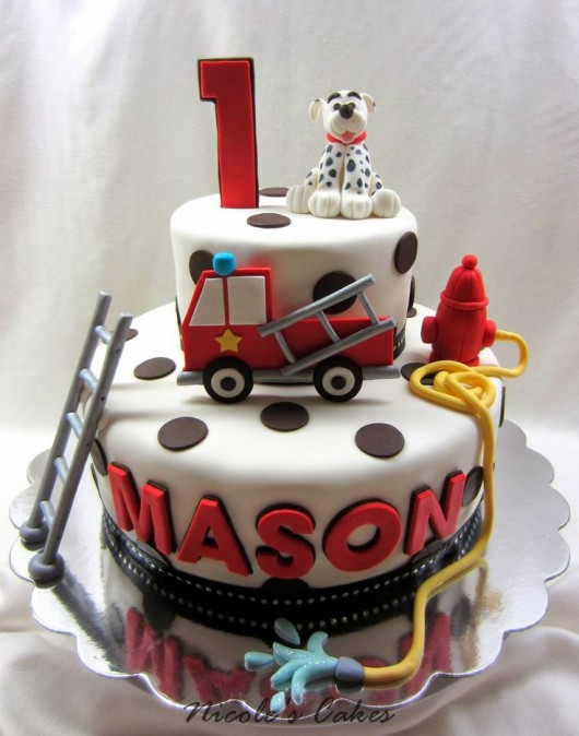 fire truck cake trucks and fighter birthday ideas diy 4072