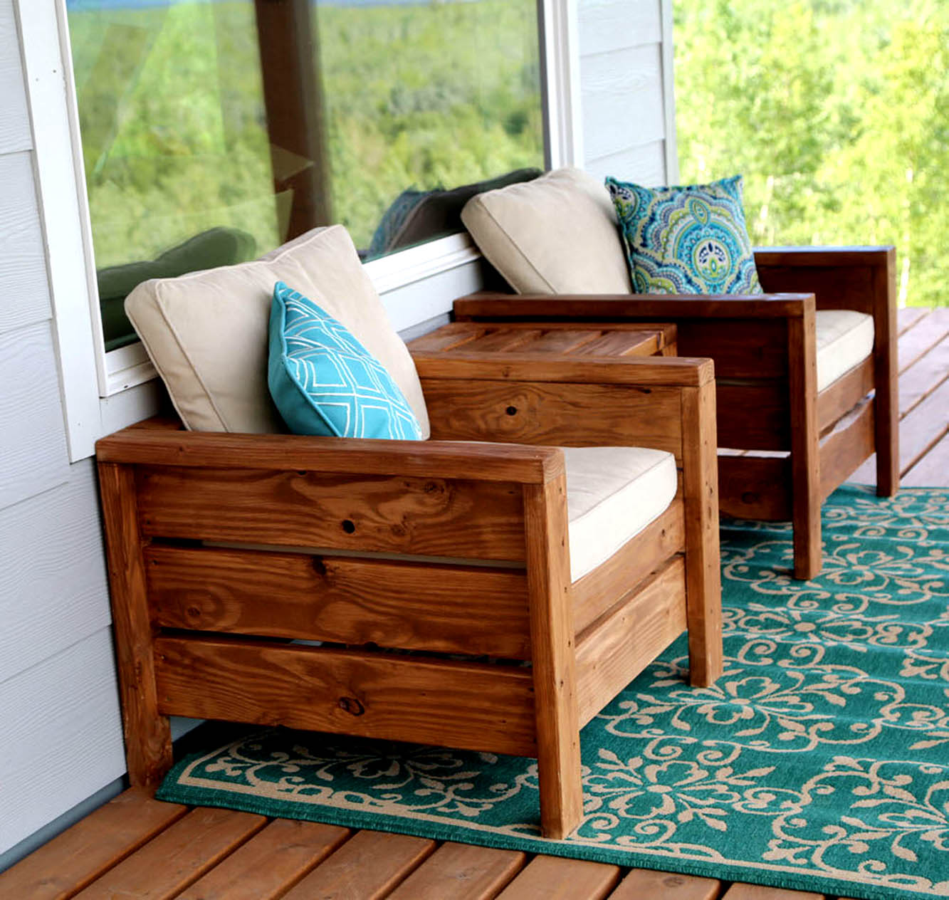 Homemade Modern Outdoor Furniture for Patio and Garden Chair plans