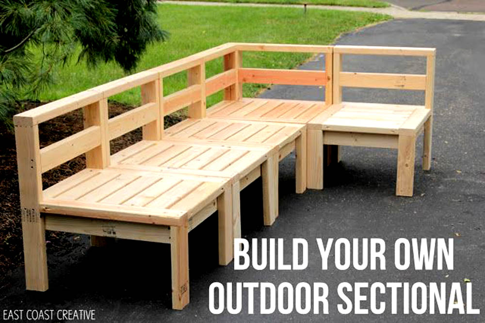 How to Build Your Own Outdoor Sectional Sofa, Patio Furniture Ideas