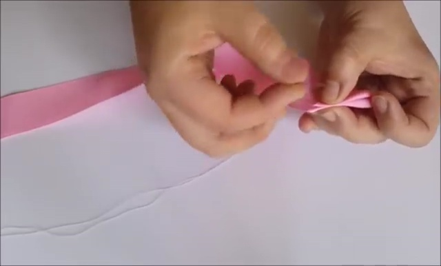 How to Ribbon Flower with Pearl Beads (6)