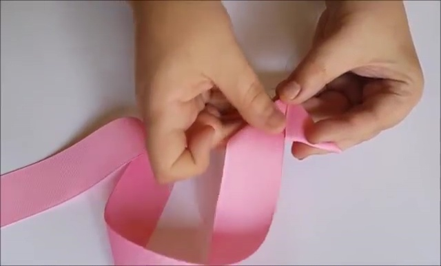 How to Ribbon Flower with Pearl Beads (8)