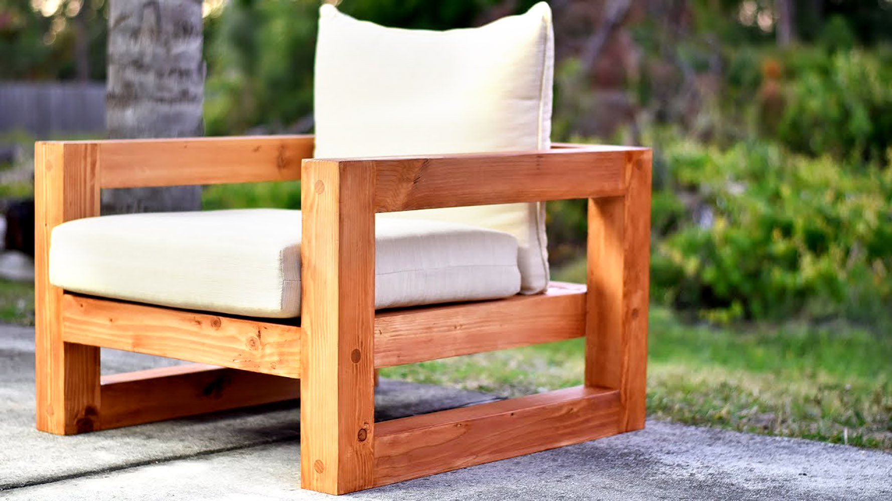 How to Turn Inexpensive Wood into Modern Outdoor Furniture
